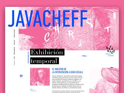 Christo Javacheff Website argentina pink grid web artist ux ui concept web design