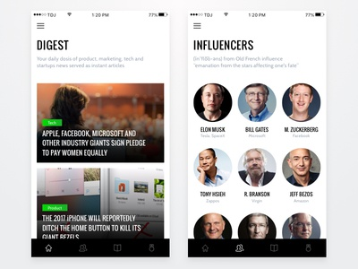 The Digital Jungle 🦎 argentina feed app user experience minimal ui design ux ui ios