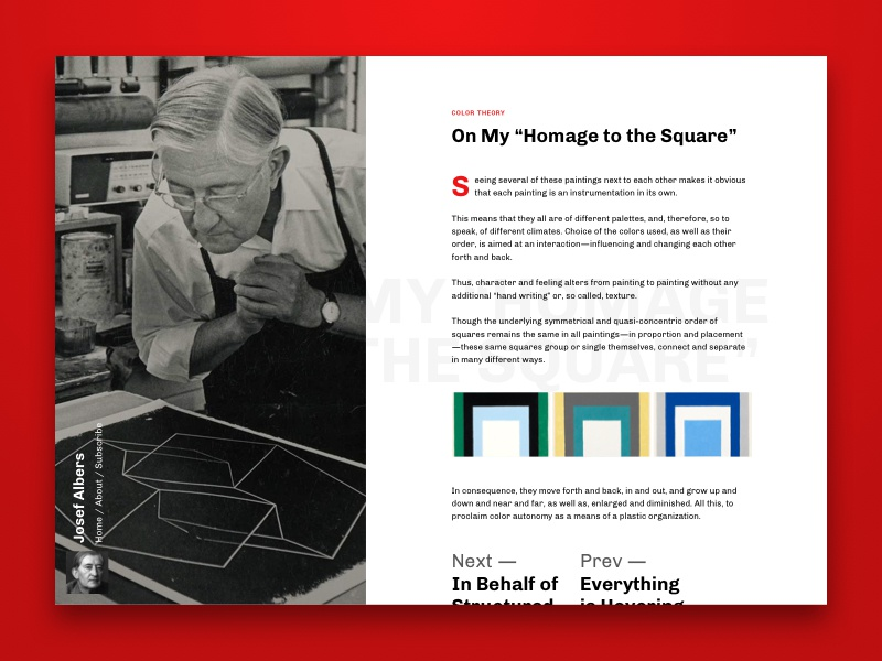 Albers inspired blog single post