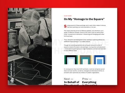 Albers Inspired Blog Post argentina minimal drop cap typography website ux ui blog post blog post article web design