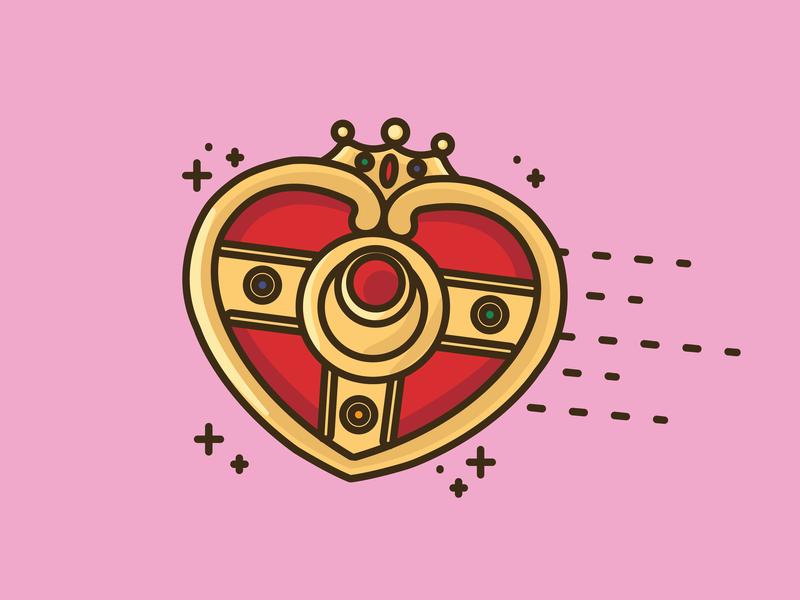 Moon Brooch graphicdesign vectorart graphic anime web app icon website vector logo design illustration sailormoon