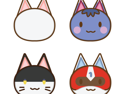 Animal Crossing: Cats illustrator identity branding ui nintendo graphic design animal crossing app website web vectorart minimal anime vector logo illustration icon graphicdesign graphic design