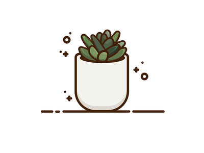 Succulent web icon graphic design vectorart minimal vector illustration graphic graphicdesign design