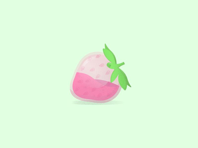 Strawberry pink fruity strawberry fruit designer illustrator illustrations vectors graphic design website minimal vector illustration graphic design