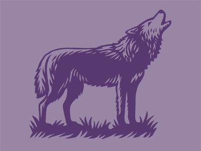 Wolf adobe photoshop adobe illustrator wolf wildlife animal vector linocut woodcut scratchboard illustration