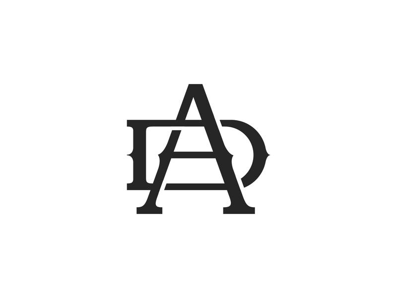 A.D. Monogram Practice monogram logo logo design monogram logo