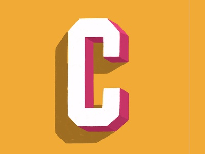 C typography type sketch lettering letter dimensionaltype block 3d