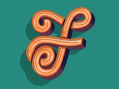 Letter Studies — F lettering design illustration dailytype letter typography hand lettering illustrated type type