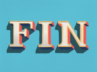 Fin design illustration dailytype letter typography hand lettering illustrated type type lettering