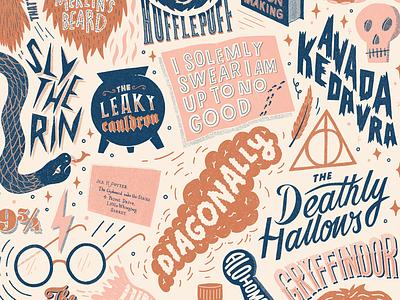 Harry Potter Poster design illustration type geek wizard lettering harry potter