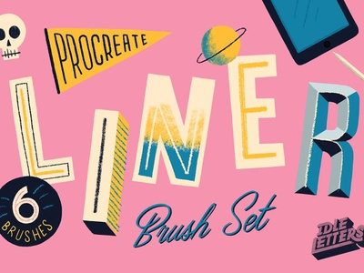 Liner Procreate Brush procreate lettering procreate brushes procreate app procreate letter skull handtype drawing dailytype illustrated type sketch hand lettering typography type lettering illustration