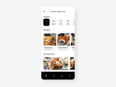 Food Delivery App Concept food app ios pizza burger clean map order cart move ux animation motion motion graphics concept delivery food design app mobile ui