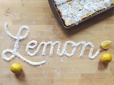Lemon food lemon hand lettering cursive handlettering typography foodtypography edibletype lettering type