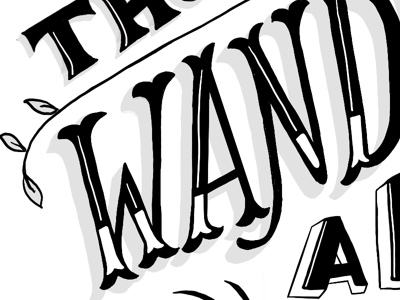wander handdrawn handlettering lettering