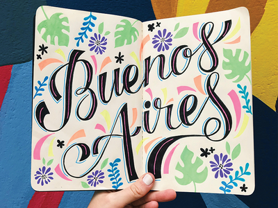 Buenos Aires script cursive typography type handlettering lettering