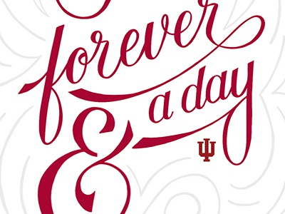 Forever cursive script hand lettering handlettering letter