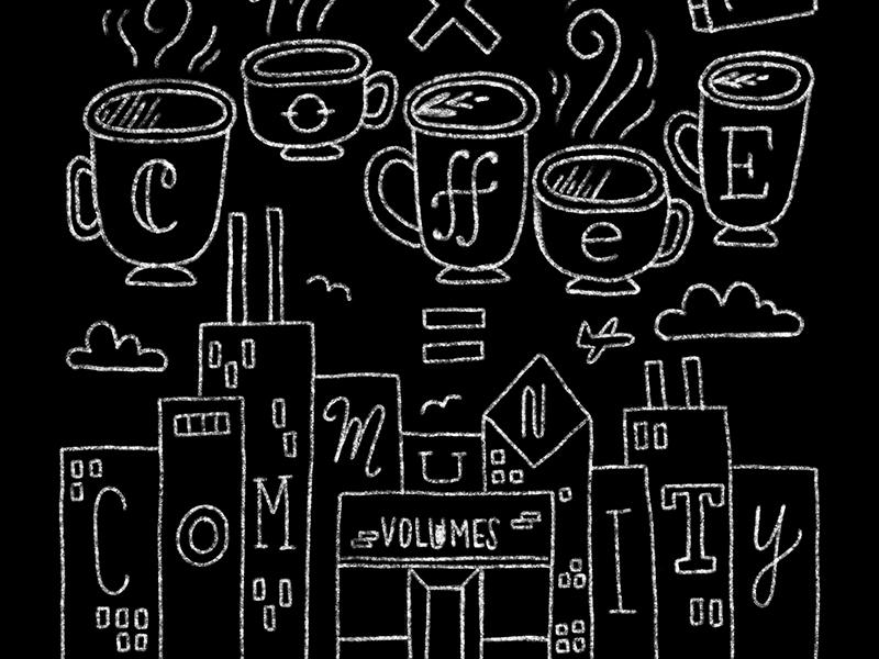 books x coffee city coffee chicago handlettering chalk lettering hand lettering chalk lettering illustration