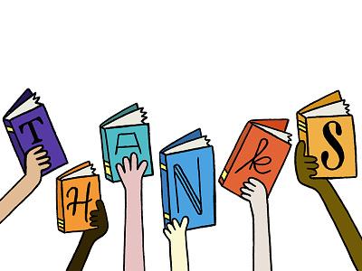 Thanks Books handlettering books hand lettering lettering illustration