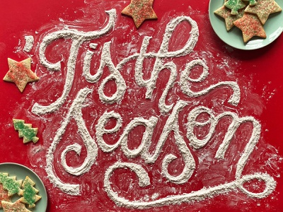 'Tis the season! cursive photography cookies foodlettering food food illustration handdrawn type typography illustration handlettering hand lettering lettering