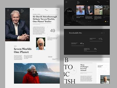Dynasties - Sir David Attenborough format art dynasties documentary biography david attenborough website web ux ui design