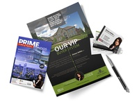 Ad magazine, flyer, business card