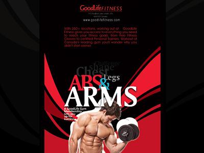 Flyer for GoodLife Fitness design fitness flyer artwork flyer design print ad flayer