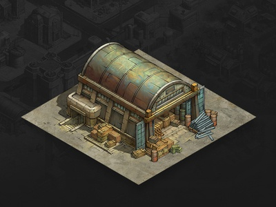 Warehouse mobile game game artist isometric illustration isometric art isometric illustration game art game design concept art concept building art architecture