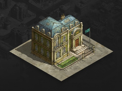Embassy mobile game game asset game artist isometric illustration isometric art isometric illustration game art game design concept art concept art building architecture