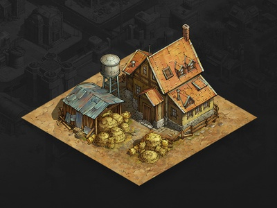 Farm mobile game game asset game artist isometric illustration isometric art isometric illustration game art game design concept art concept art building architecture