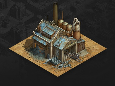 Steel Furnace game asset game artist isometric illustration isometric art isometric illustration game art game design concept art concept art building architecture
