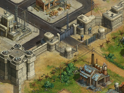 Gate game asset game artist isometric illustration isometric art isometric illustration game art game design concept art art concept building architecture