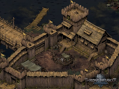 Angren environment art witcher fortress castle medieval fantasy game asset game artist isometric illustration isometric art isometric illustration game art game design concept art art concept building architecture