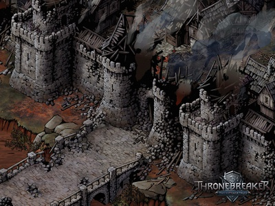Aedirn thronebreaker city fortress castle medieval fantasy game asset game artist isometric illustration isometric art art isometric illustration game art game design concept art concept building architecture