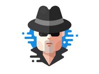 Detective flat icon