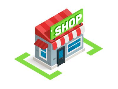 Isometric Shop Illustration