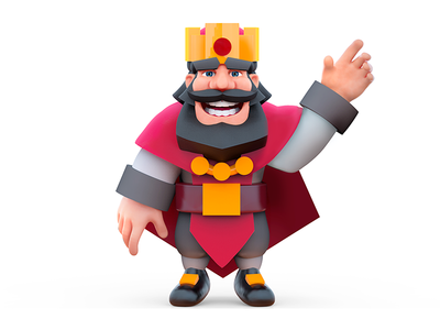 King Character ios app game application king 3d zbrush design character clash royale