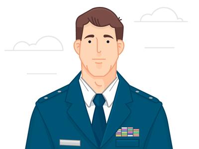 Cartoon soldier in uniform