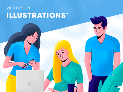 Illustration for crypto-related website website vector branding work woman girl guy man people design ui crypto webdesign web grain character illustration flat