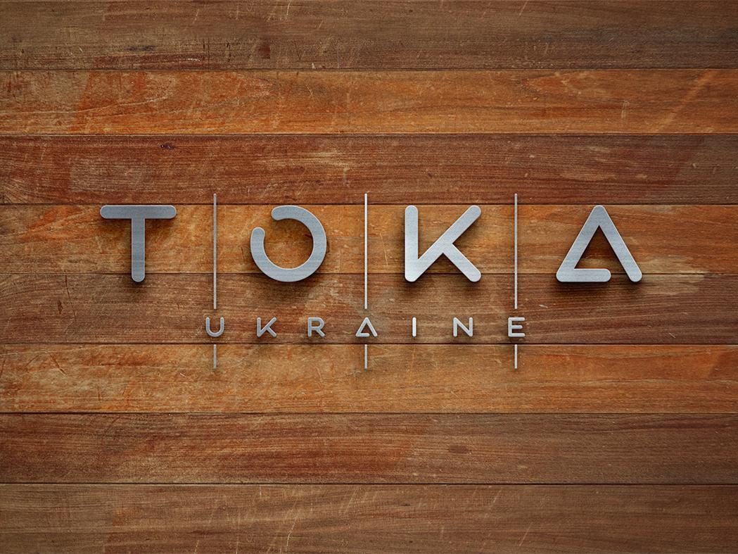 TOKA Ukraine wooden furniture logo branding