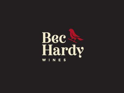 Bec Hardy Wines wine bird logo branding