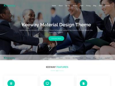 Keeway - Material Design WordPress Theme