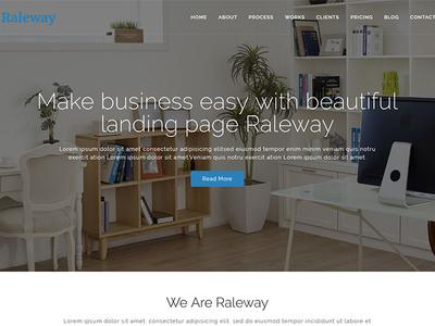 Raleway Lite - Free Bootstrap Agency WordPress Theme
