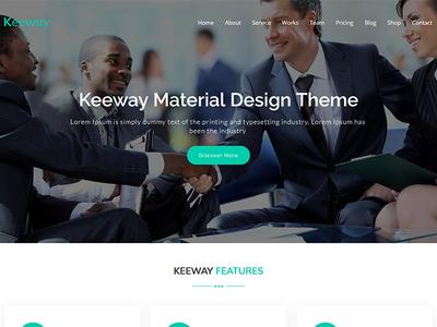 Keeway Lite - Free Material Design WordPress Theme