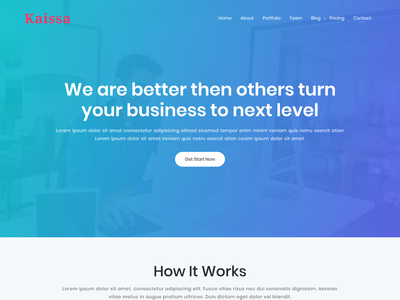 Kaissa - Landing Page WordPress Theme
