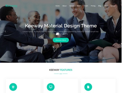 Keeway - Digital Agency One page WordPress Theme
