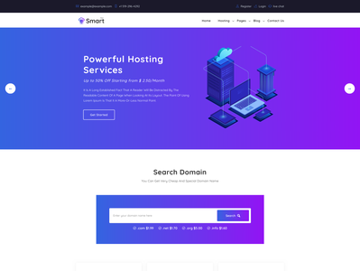 SmartHost - Domain Hosting Business HTML Template