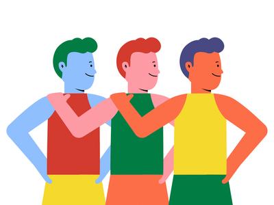 Unity in Diversity boys vector illustration vector art 2d family character design flat illustration character affinity designer