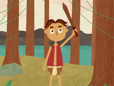 Warrior cute digital painting digital illustration digital art digital character design character