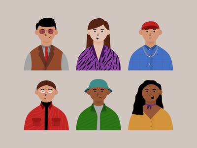 Fashion Stylist girls boys 2d vector cute character design character illustration flat affinity designer