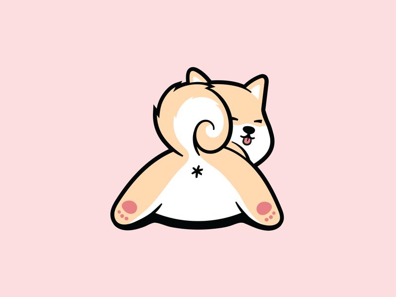 Shiba butt doggo dog shirt t-shirt illustrator illustration vector shiba butt cute dog doggy dog butt shiba illustration cute shiba shiba inu shiba dog shiba